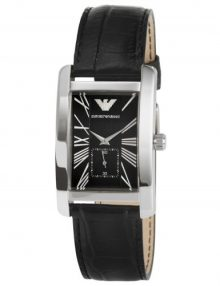 Armani Analog Black Men's Ar0143 Leather Watch-0