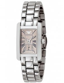 Armani Classic Silver Women's Ar0172 Steel Watch-0