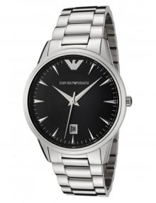 Armani Analog Black Men's Ar2440 Steel Watch-0