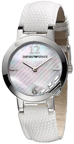 Armani Fashion Mother Of Pearl Women's Ar0745 Leather Watch-0
