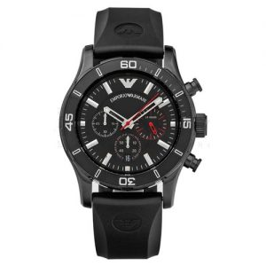 Armani Sportivo Black Men's Ar5948 Silicone Watch-0