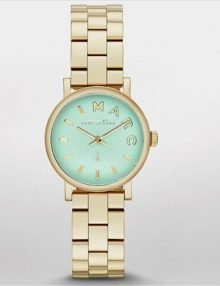 Marc by March Jacobs MBM3284 Baker Mini Gold Tone Mint Dial Watch