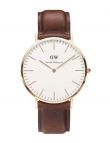 Daniel Wellington 0161DW St. Andrews Unisex Rose gold leather Watch 40MM