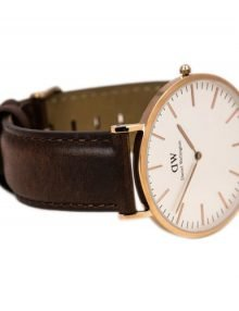 Daniel Wellington St Mawes Unisex Silver Leather Classic 0106Dw Watch-7487