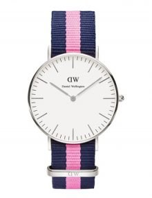 Daniel Wellington 0604DW Winchester Womens Silver Watch with Mid-size Silver Dial 36mm