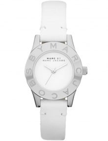 Marc by Marc Jacobs MBM1206 Womens White Dial & Leather Strap Watch with Silver Stainless Steel Case