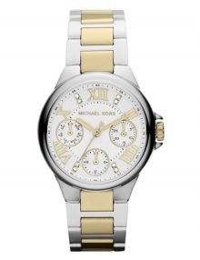 Michael Kors Mini Camille MK5760 Silver and gold Two-Tone Stainless Steel Ladies Chronograph Watch