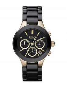 Dkny Ceramic Ny4915 Black Womens' Ceramic Chronograph Watch-7277