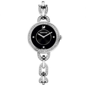 Swarovski 1094377 Aila Black Dial Silver Stainless Womens Watch