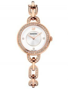 Swarovski 1094379 Aila White Dial Ladies Watch with Rose Gold Stainless Strap