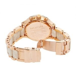 NIXON Watch ladies 42-20 CHRONO White & rose gold plated stainless steel A037-1046