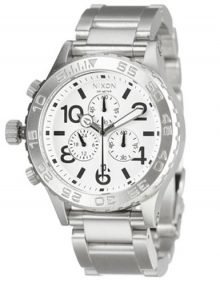 Nixon Men's A037-100stainless steel Analog White Dial Watch