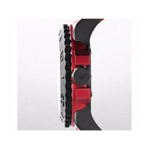 Armani Acqua Ar6101 Black Flashy Red Men's Watch-9600
