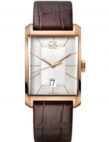 Calvin Klein K2M21620 Gents Window gold plated stainless steel Analog Leather Watch