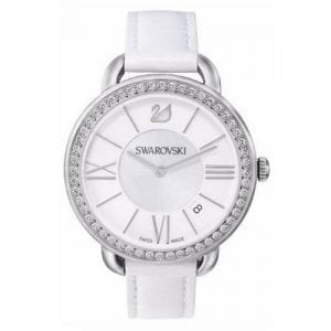 Swarovski Aila Day Silver Womens' 5095938 Leather Roman Letter Watch-0