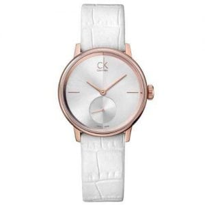 Calvin Klein Accent Silver Womens' K2Y236K6 Leather Analog Watch-11406