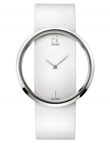 Calvin Klein Glam Silver Womens' K9423101 Leather Classic Watch-11805