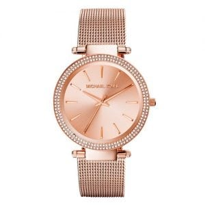 Michael Kors MK3369 Darci Women's Rose Gold-Tone Stainless Steel Mesh Bracelet Watch