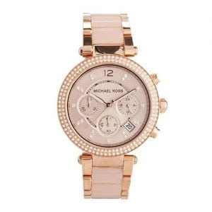 Michael Kors MK5896 Parker Ladies Rose Gold Plated Chronograph Watch