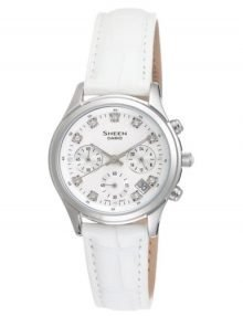 Casio Sheen SHE-5023L-7A Ladies Stainles Steel Chronograph Watch