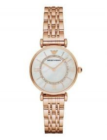 Emporio Armani AR1909 Ladies Rose Gold Plated Stainless Steel Watch