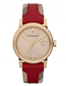 Burberry BU9111 Haymarket Ladies Gold Plated Stainless Steel Watch