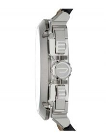 Diesel Bamf Silver Mens' Dz7343 Leather Funky Watch-13888