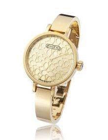 Coach 14501030 Ladies Gold Plated Stainless Steel Round Watch