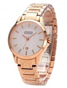 Coach 14501452 Classic Ladies Rose Gold Plated Round Watch