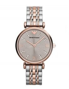Emporio Armani AR1841 Classic Ladies Rose Gold Plated Watch