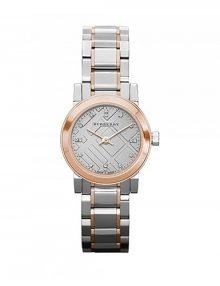 Burberry BU9214 Heritage Ladies Rose Gold Plated Watch