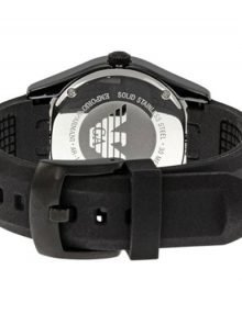 Emporio Armani Black Rubber Watch Band for Model AR1432