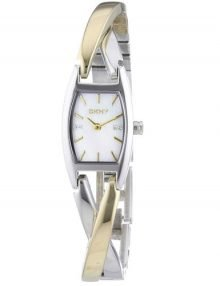 Dkny Crosswalk Ny4634 Mother Of Pearl Womens' Steel Link Watch